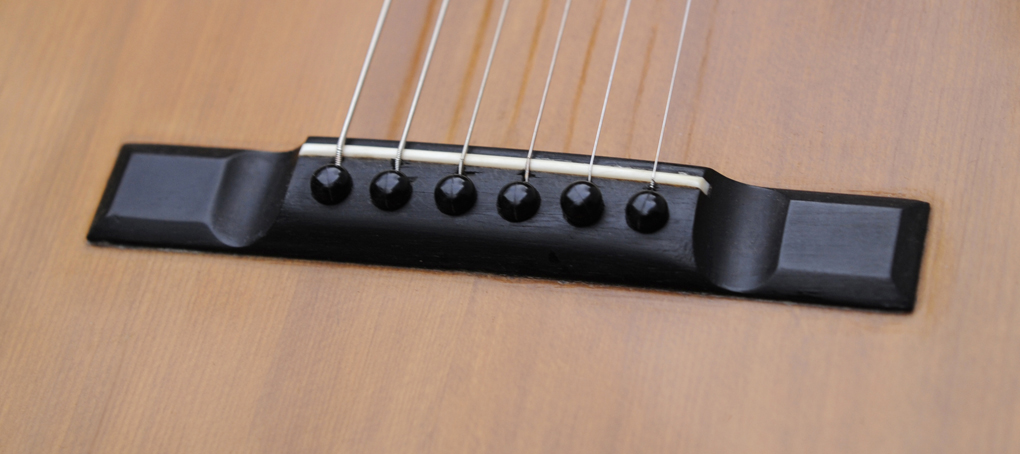 Ebony guitar bridge pins